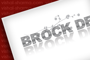 Word Mark Logo Design for Brock-Design.com