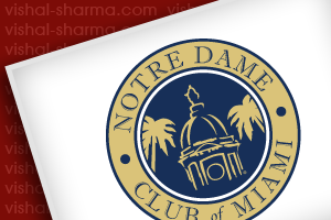 Emblem Logo Design for Noter Dame Club of Miami.