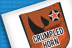 Football Team Badge crumpled horn