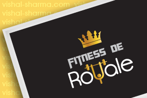 Combination Mark Logo Design for Fitness De Royale